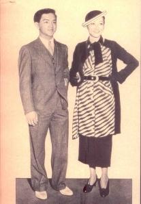 Anna May Wong and brother Roger Wong, 1934
